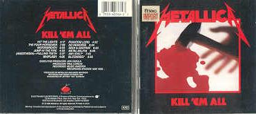Metallica Kill Em All Back Cover